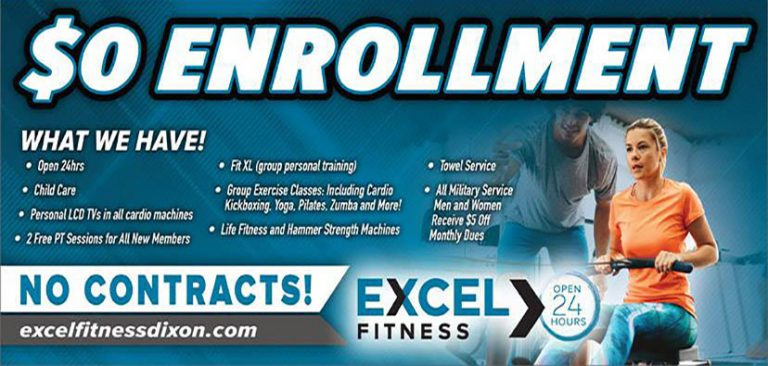 Excel Fitness of Dixon CA - Absolutely No Enrollment Fee
